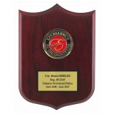 Rosewood Shield Shaped Plaque