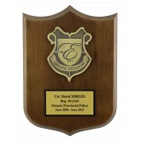 Walnut Shield Shaped Plaque