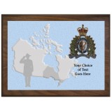 Canada Map Provincial Plaque