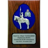 Sculpted Horse & Rider Plaque