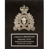 Pewter Crested Slate Plaque