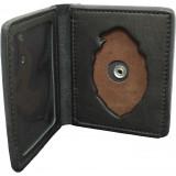 Single Fold Badge Wallet Standing