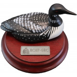 Hand Painted Wooden Loon on rosewood base with GRC Crest