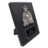 Crested Leatherette Plaque