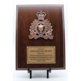 9 x 12'' Crested Simulated Cherry Plaque
