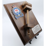 9x12 Crested Gavel Plaque
