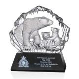 """7.25"""" Crystal Polar Bear Award"""