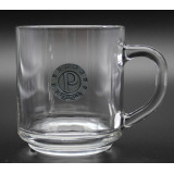 10oz Handy Glass Mug with Pewter Crest
