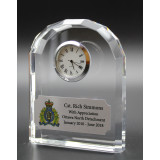 Optical Crystal Desk Clock