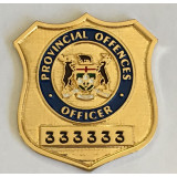Provincial Offences Officer Wallet Badge
