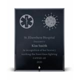 Black Glass Recognition Plaque