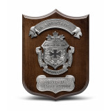 Walnut Finished Executive Shield Plaque
