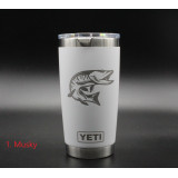 20 OZ OUTDOORS THEMED YETI RAMBLER TUMBLER