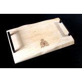 16X10 NT WOODWORKING MAPLE CHARCUTERIE BOARD W/ HANDLES