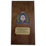 Saskatchewan Crested Plaque