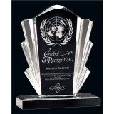 "6 3/4"" Black and Clear Flair Acrylic Award"
