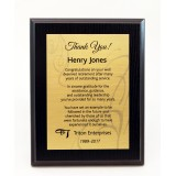7x9 Black Ash Plaque with Sublimated Full Plate