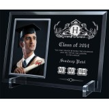 "7 3/4"" x 11"" Glass Photo Frame/ Holder, 4""x6"" Frame"