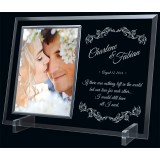 "9""x12"" Glass Photo Frame Holder, 5""x7"" Frame"