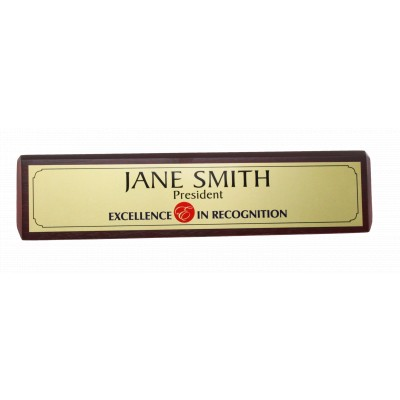 Sublimated Desk Name Bar