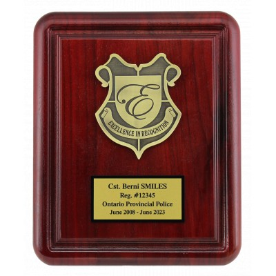 Rosewood Gallery Plaque with Deep Cut Boarder