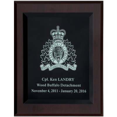 Glass Engraved Plaque