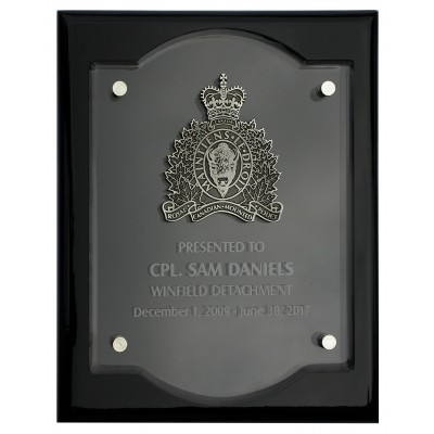 Floating Etched Acrylic Plaque