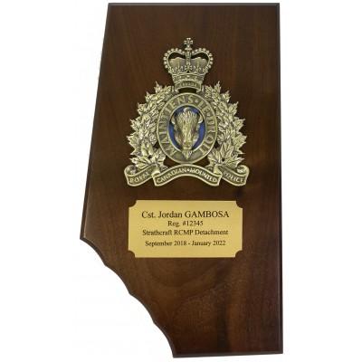 Crested Alberta Plaque