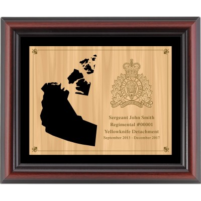 Framed Provincial Cut-Out Plaque