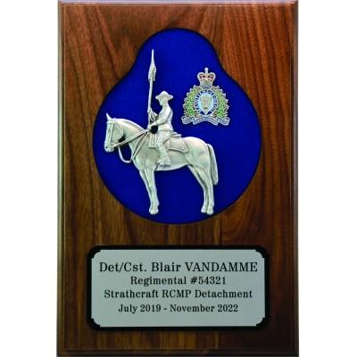 Sculpted Horse & Rider Plaque