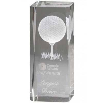 3D Image Crystal Golf Award