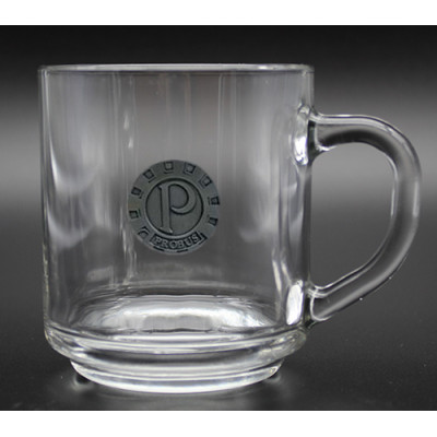 10oz Handy Glass Mug with Pewter Crest