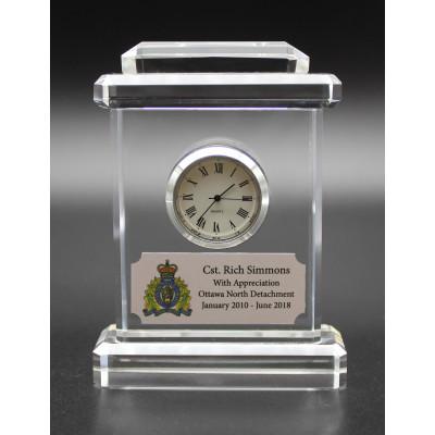 Optical Crystal Desk Clock