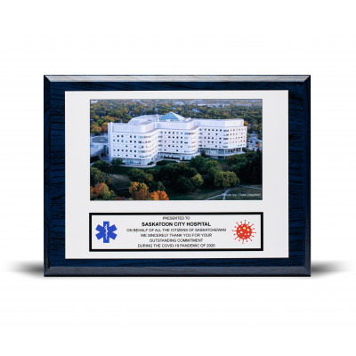 9x12 Blue Wood Sublimated Recognition Plaque