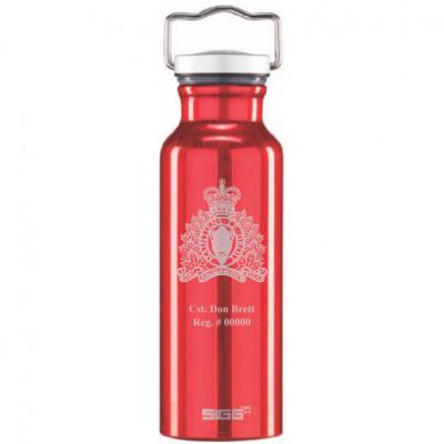 0.75L SIGG Original Laser Engraved Red Bottle