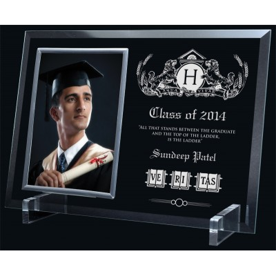 Glass Photo Frame/ Holder