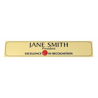 Sublimated Name Plate