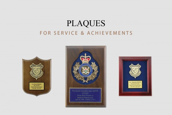 Click here to view and order Plaques for Achievements and Service