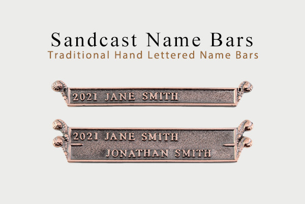 Sand Cast Name Bars